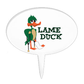 LAME DUCK CAKE TOPPER