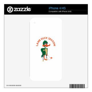 LAME DUCK SEASON SKIN FOR iPhone 4S