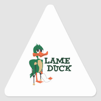 LAME DUCK TRIANGLE STICKER