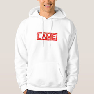 Lame Stamp Hooded Pullover