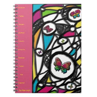 Lamedura de la mariposa social de Aliya Leigh Spiral Notebooks