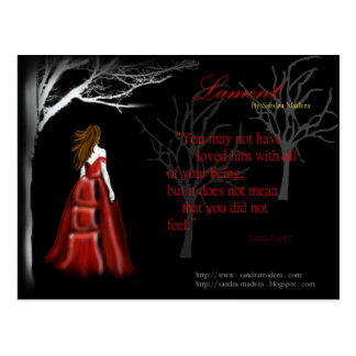 Lament by Sandra Madera Postcards