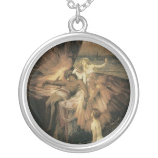 Lament of Icarus Fine art Silver Plated Necklace