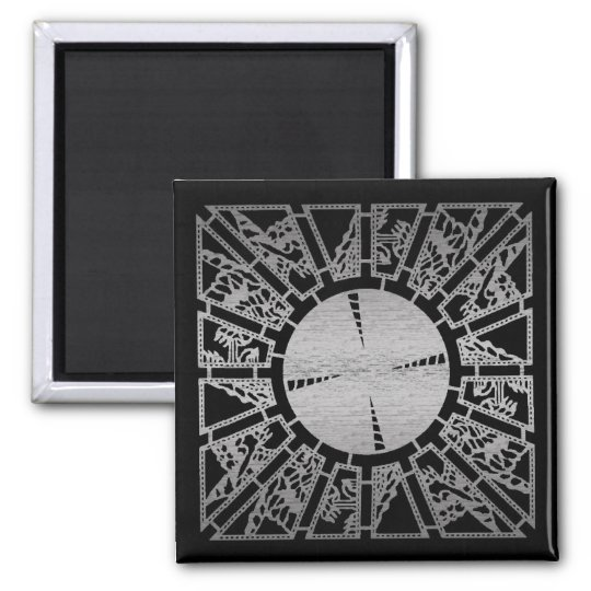 Lament Panel 1 (silver) 2 Inch Square Magnet