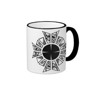 Lament star black ringer mug