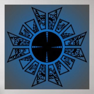 Lament star blue poster