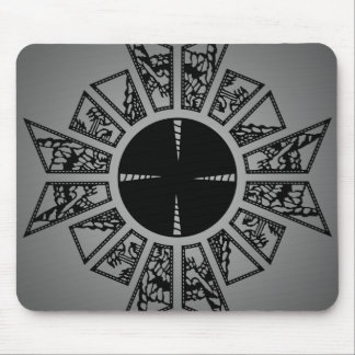 Lament star grey mouse pad