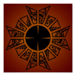 Lament star red poster