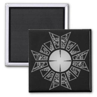 Lament star silver 2 inch square magnet