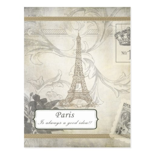 Lamentable:  ¡París es siempre una buena idea! Postal