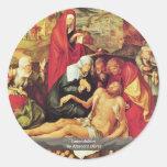Lamentación de Albrecht Dürer Etiquetas Redondas