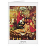 Lamentación de Albrecht Dürer Tarjetas