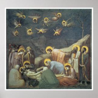 Lamentación de Cristo, c.1305 Giotto Poster