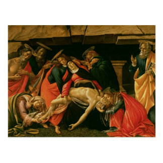Lamentación de Cristo. c.1490 Postal