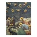 Lamentación de Giotto de Cristo Postal
