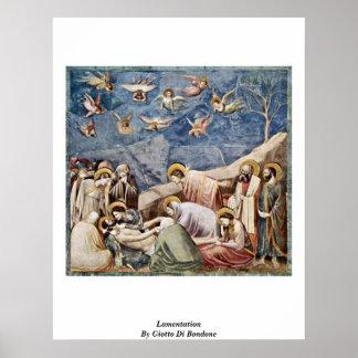 Lamentación de Giotto Di Bondone Poster