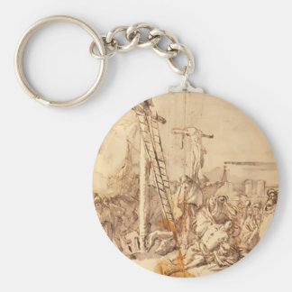 Lamentación de Juan Tiepolo- en el pie de la cruz Llaveros Personalizados