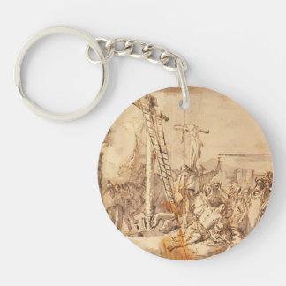 Lamentación de Juan Tiepolo- en el pie de la cruz Llaveros