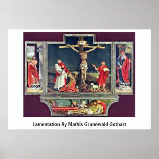 Lamentación de Mathis Grunewald Gothart Posters