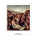 Lamentación de Pedro Perugino Tarjeta Postal