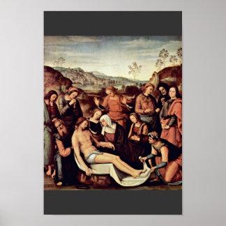 Lamentación de Perugino Pedro (la mejor calidad) Póster