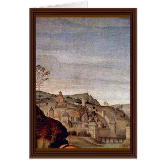 Lamentación de Perugino Pedro (la mejor calidad) Tarjeta De Felicitación