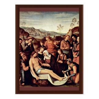 Lamentación de Perugino Pedro (la mejor calidad) Postal