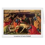 Lamentación de Sandro Botticelli Tarjeta De Felicitación