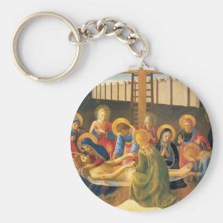 Lamentación del Fra Angelico- sobre Cristo Llaveros Personalizados