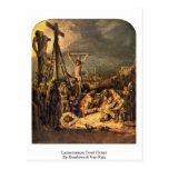 Lamentación Oved Cristo de Rembrandt Van Rijn Postal