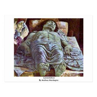 Lamentation By Andrea Mantegna Postcard