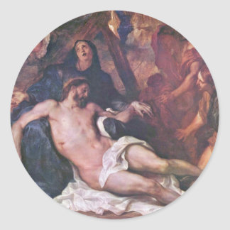 Lamentation By Anthony Van Dyck Stickers