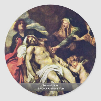 Lamentation By Dyck Anthonis Van Stickers