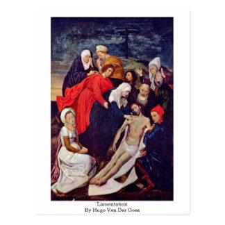 Lamentation By Hugo Van Der Goes Postcard