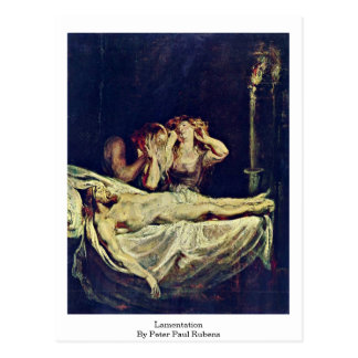 Lamentation By Peter Paul Rubens Postcard