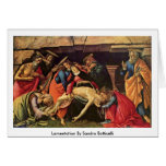 Lamentation By Sandro Botticelli Greeting Card