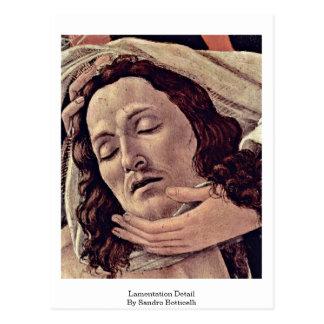 Lamentation Detail By Sandro Botticelli Postcard