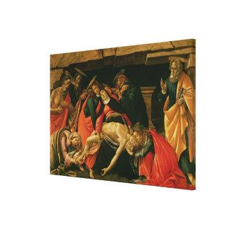 Lamentation of Christ. c.1490 Canvas Print
