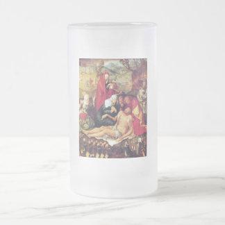 Lamentation of Christ 16 Oz Frosted Glass Beer Mug