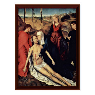 Lamentation Of Christ With Donors By Memling Hans Postcard