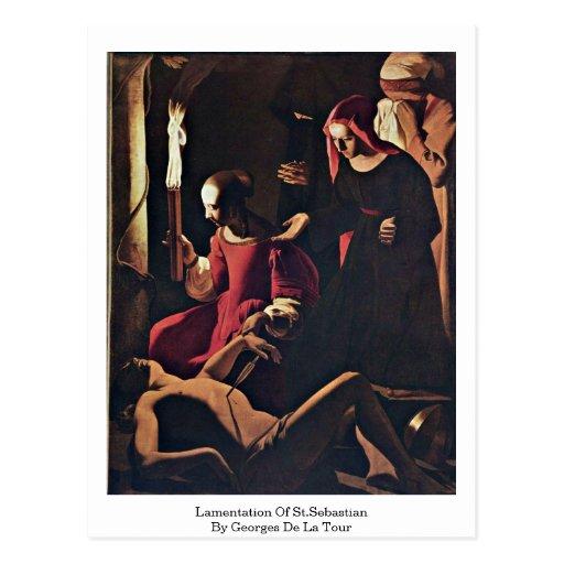 Lamentation Of St.Sebastian By Georges De La Tour Postcard