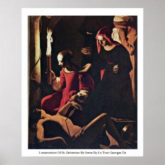 Lamentation Of St. Sebastian By Irene Poster