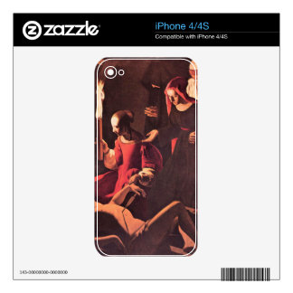 Lamentation of St. Sebastian by Irine by La Tour Skins For iPhone 4