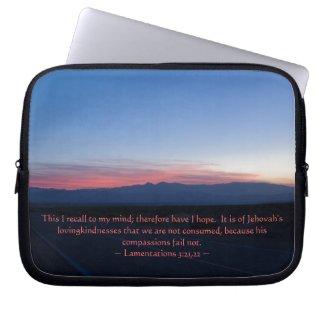 Lamentations 3:21-22 computer sleeves