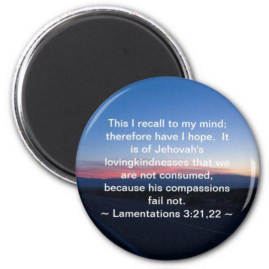 Lamentations 3:21-22 magnet