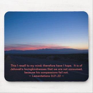 Lamentations 3:21-22 mousepad