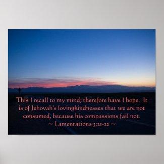 Lamentations 3: 21-22 posters