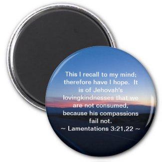 Lamentations 3:21-22 refrigerator magnet