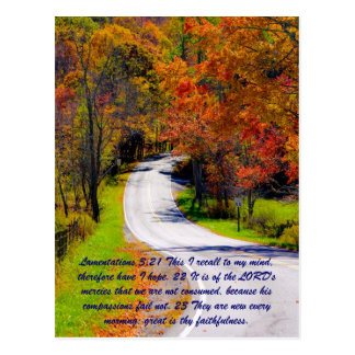 Lamentations 3:21 This I recall to my mind, theref Postcards