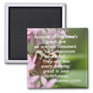 Lamentations 3:22-23 magnet